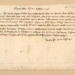 un ragazzo prova a scrivere una bella lettera a Francesco Datini 4 febbraio 1398 (=99)