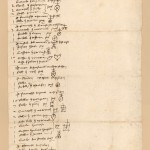Merchants notes on goods loaded onto a ship 10th June 1393
